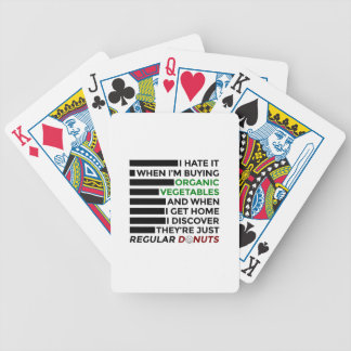 Organic Vegetables Love Donuts Bicycle Playing Cards