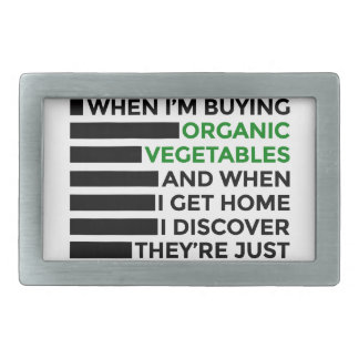Organic Vegetables Love Donuts Rectangular Belt Buckle