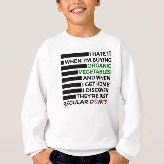 Organic Vegetables Love Donuts Sweatshirt