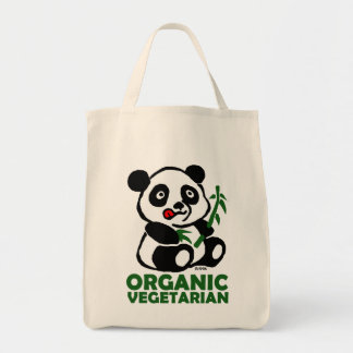 Organic vegetarian tote bag