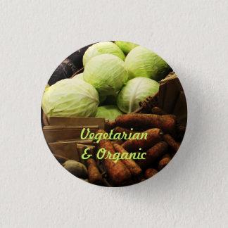 Organic Veggies badge 1 Inch Round Button