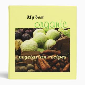 Organic Veggies customizable recipe binder