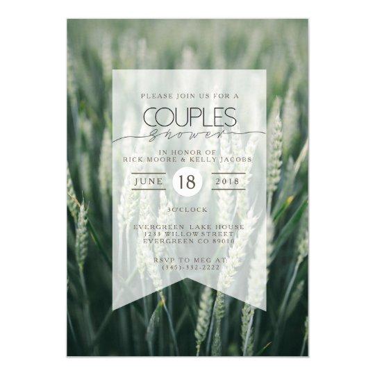 Organic Wheat   Couples Shower Invitation