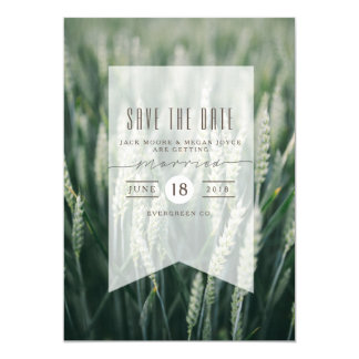 Organic Wheat | Save The Date Photo Card