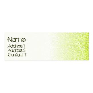 ORGANICS green Mini Business Card