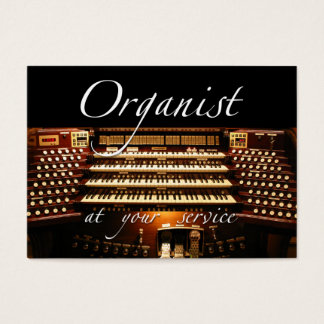 Organist at your service business card #4