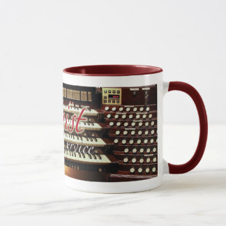Organist at your service mug - red