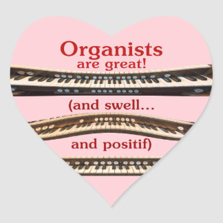 Organists are great heart sticker for Valentine