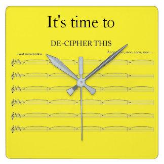 Organist's funny clock