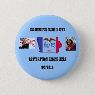 Organize For Palin In Iowa 2 Inch Round Button