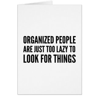 Organized People Card