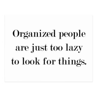 Organized People Postcard