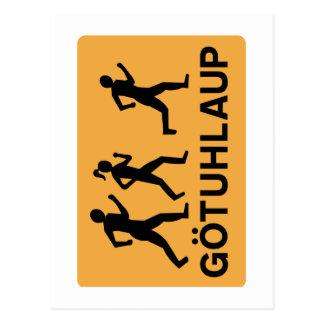 Organized Street Running, Traffic Sign, Iceland Postcard