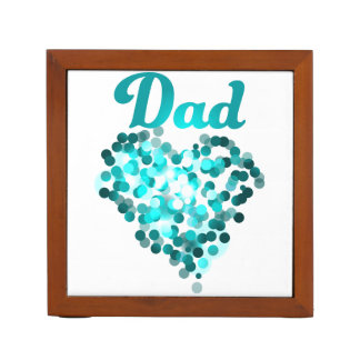 Organizer for Dad in happy green heart Desk Organizers