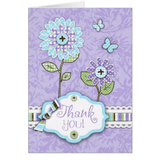 Organza Flowers TY Card Lav