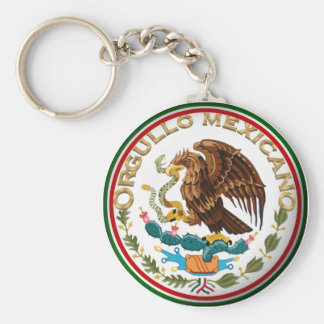 Orgullo Mexicano (Eagle from Mexican Flag) Keychain