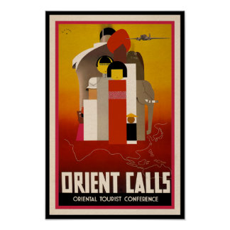 Orient Calls - Vintage East Asia Travel Poster