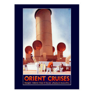 Orient Cruises Big Funnel Postcard
