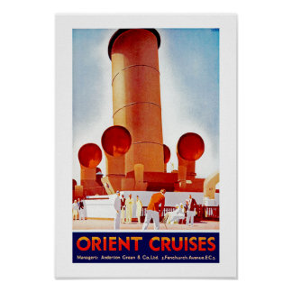 Orient Cruises Big Funnel Print