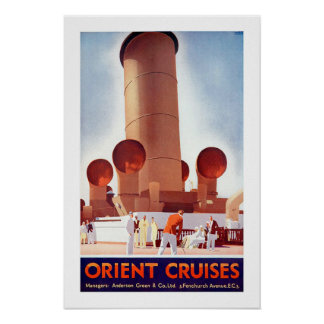 Orient Cruises Big Funnel Poster