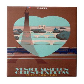 Orient Express Paris Poster Tile