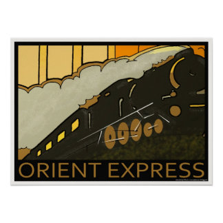 Orient Express railway classic poster print