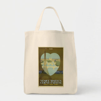Orient Express Vintage Travel Poster London  Paris Tote Bag