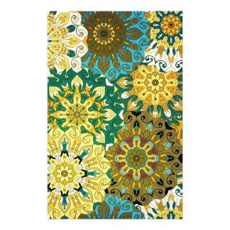 Orient mandala blue & yellow | Indian motif Stationery