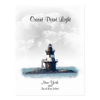 ORIENT POINT LIGHT- New York Postcard