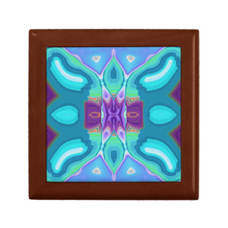 oriental abstract turquoise purple butterfly keepsake boxes