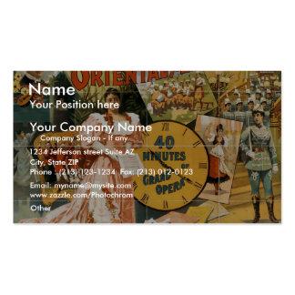 Oriental America, '40 Minutes grand opera' Vintage Business Card Templates