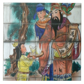 Oriental art at Geothermal Valley, Taiwan Tile