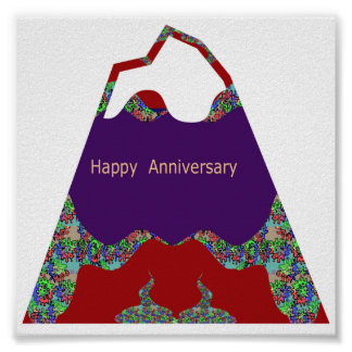 Oriental Arts Lips -  Happy Anniversary Poster