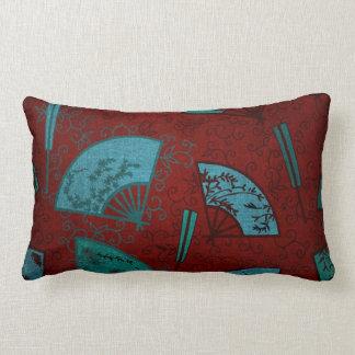 Oriental Asian Fans Lumbar Pillow