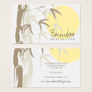 Oriental Asian Yellow Sunrise Bamboo Leaves Zen Business Card