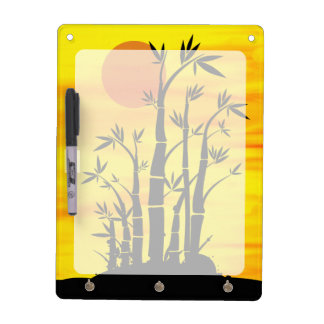 Oriental Bamboo Sunset Dry Erase Whiteboards