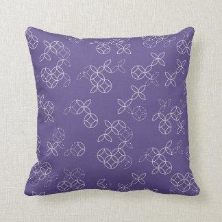 Oriental Batik Throw Pillow