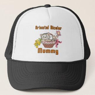 Oriental Bicolor Cat Mom Trucker Hat