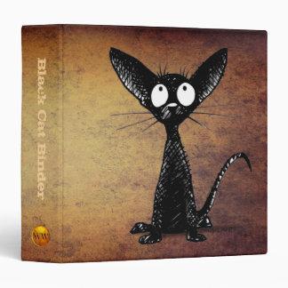 Oriental Black Cat Lover 3 Ring Binders