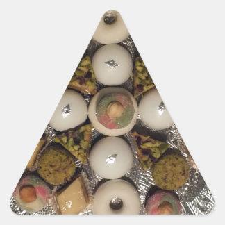 Oriental cakes triangle sticker