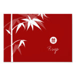 Oriental Chinese Asian Bamboo Tree Wedding RSVP