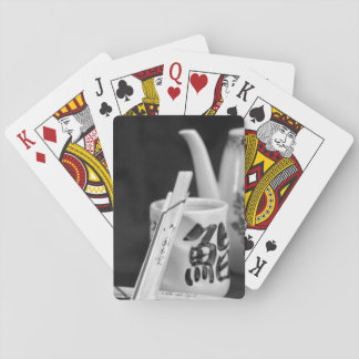 Oriental Chop Sticks & Cup Playing Cards