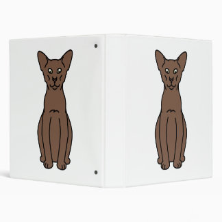 Oriental Cinnamon & Fawn Cat Cartoon Vinyl Binders