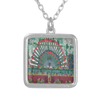 oriental design silver plated necklace