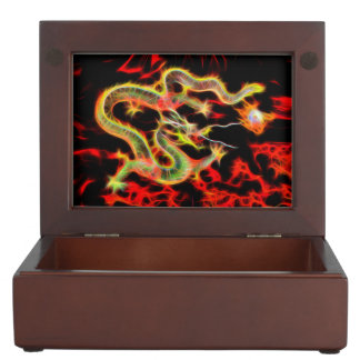 Oriental Dragon Fire on Lucky Energy Keepsake Boxes