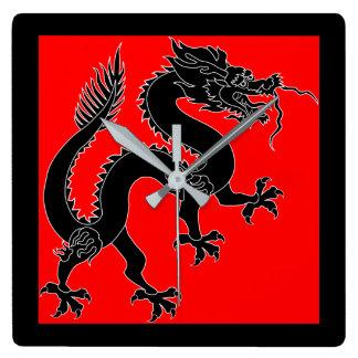 Oriental Dragon Wall Clock