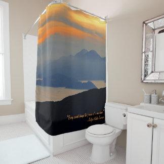 Oriental Evening Mist Shower Curtain