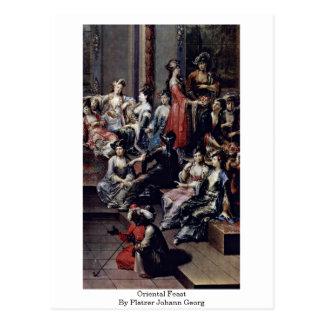 Oriental Feast By Platzer Johann Georg Postcard