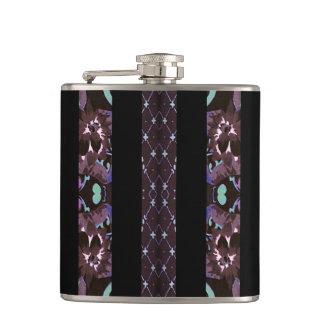 Oriental Floral Stripes Hip Flask