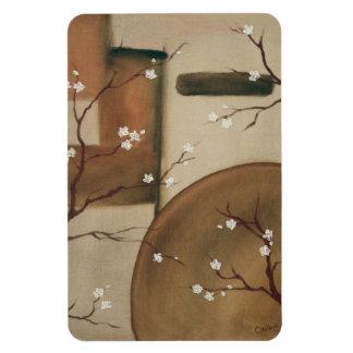 Oriental Flower Blossom Magnet